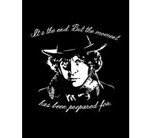 It's The End - 4th Doctor Regeneration Tee Photographic Print