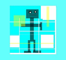 Robot Bob, modern abstract by ackelly4