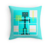 Robot Bob, modern abstract Throw Pillow