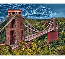 •●♥Ƹ̵̡Ӝ̵̨̄Ʒ♥●•٠·˙●•٠·Clifton Suspension Bridge   •●♥Ƹ̵̡Ӝ̵̨̄Ʒ♥●•٠·˙●•٠·  Photographic Print