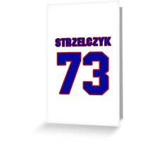National football player Justin Strzelczyk jersey 73 Greeting Card