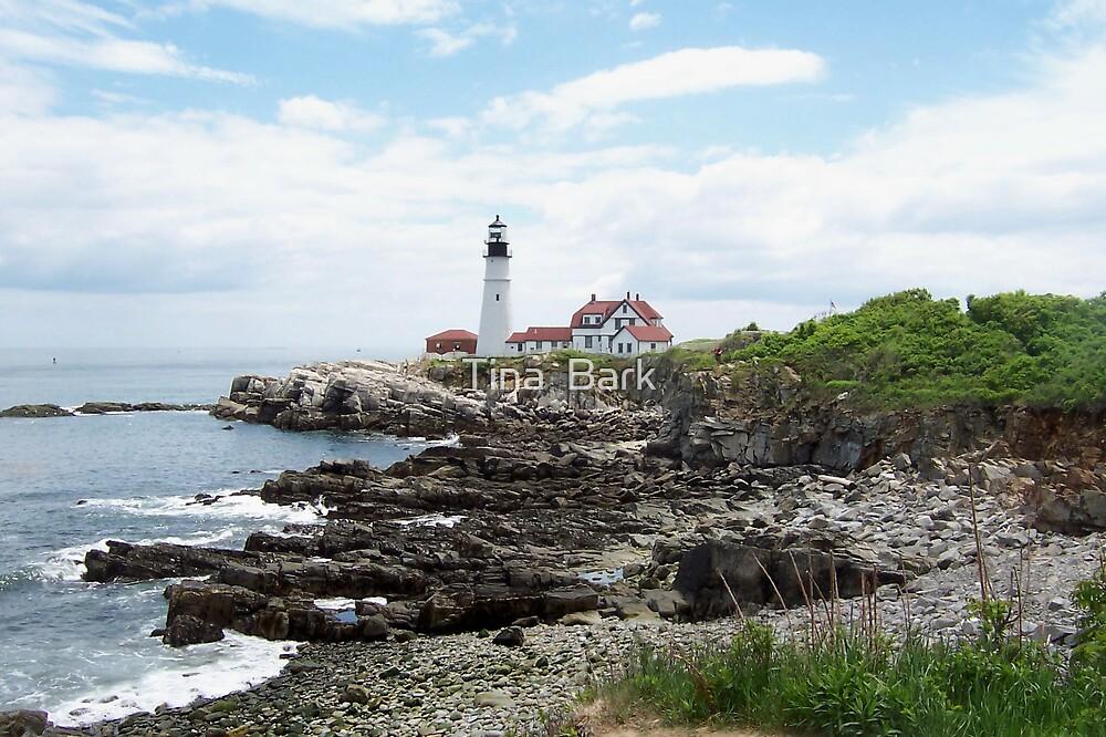 Maine light house by Tina  Bark