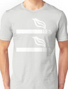 Cigarettes on Cigarettes [Minimal] [White] Unisex T-Shirt