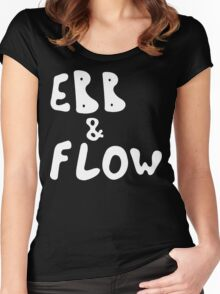Ebb & Flow [White Ink] Women's Fitted Scoop T-Shirt