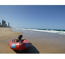 Surf Rescue Boat at Broadbeach Photographic Print