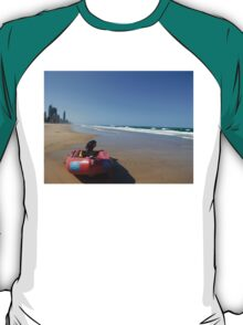Surf Rescue Boat at Broadbeach T-Shirt