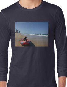 Surf Rescue Boat at Broadbeach Long Sleeve T-Shirt