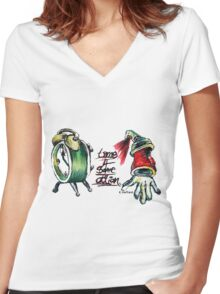 Time 4 Some Action Women's Fitted V-Neck T-Shirt
