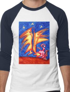 Starry Night Men's Baseball ¾ T-Shirt