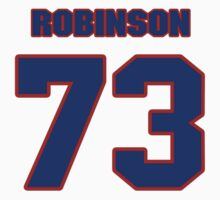 National football player Will Robinson jersey 73 by imsport