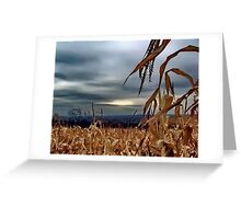 Over the Corn Greeting Card