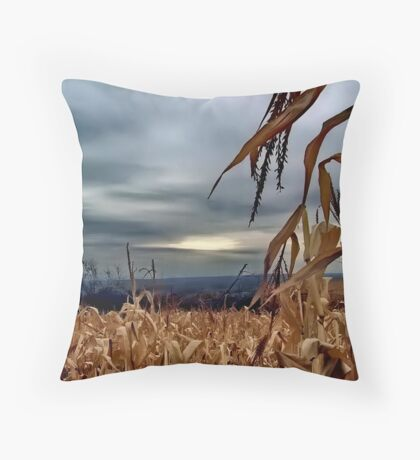 Over the Corn Throw Pillow
