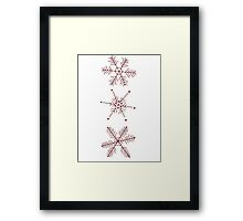 3 Snowflakes Option 1 Framed Print