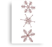3 Snowflakes Option 1 Canvas Print