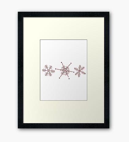 3 Snowflakes Option 2 Framed Print