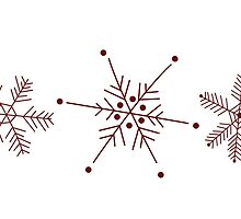 3 Snowflakes Option 2 by Leah Price
