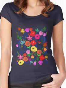 Secret Flower Garden Women's Fitted Scoop T-Shirt
