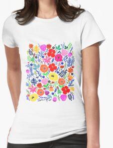 Secret Flower Garden Womens Fitted T-Shirt