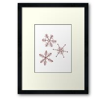 3 Snowflakes Option 3 Framed Print