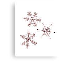 3 Snowflakes Option 3 Canvas Print