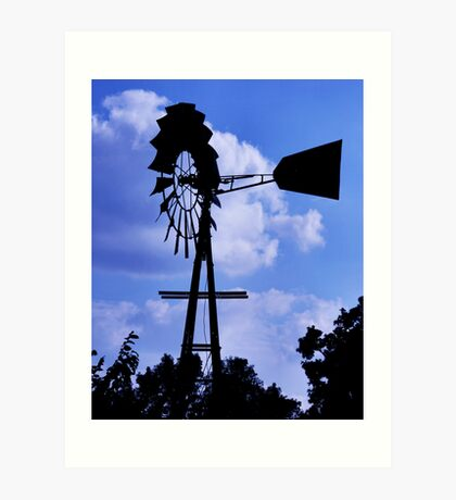 Windy Windmill Art Print
