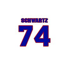 NFBL04551 football player Geoff Schwartz jersey 74 Photographic Print
