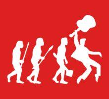 EVOLUTION OF ROCK on dark tee Kids Clothes