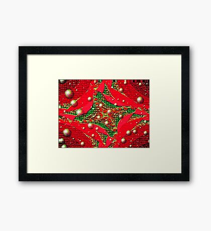 Red For Christmas Framed Print