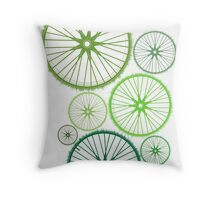 DRIVE GREEN Throw Pillow