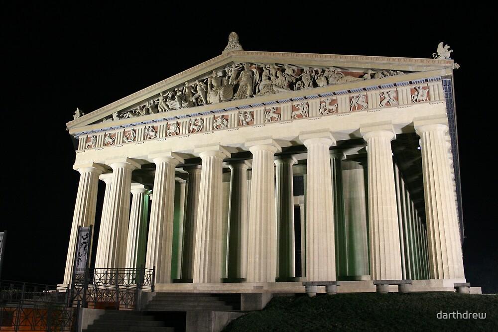 Night Parthenon by darthdrew
