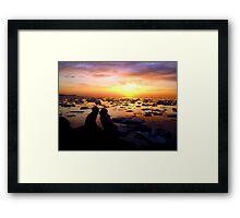 Guys Love Sunsets Too Framed Print