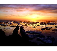 Guys Love Sunsets Too Photographic Print