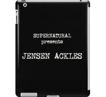 Supernatural Presents Jensen Ackles iPad Case/Skin