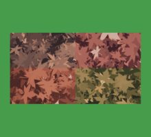 Fall Autumn Leaves 4 Color Design Pattern One Piece - Short Sleeve