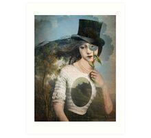 Portrait 11 with Hat Art Print