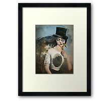 Portrait 11 with Hat Framed Print