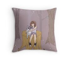 Melissa's Tree - violet Throw Pillow