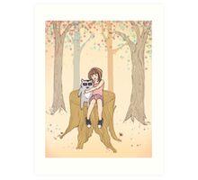 Melissa's Tree - peach Art Print