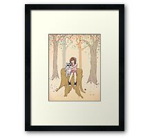 Melissa's Tree - peach Framed Print