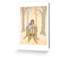 Melissa's Tree - peach Greeting Card