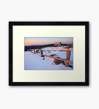 Winter Sunset, Craig's Hut, Australia Framed Print