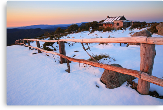 Winter Sunset, Craig's Hut, Australia by Michael Boniwell