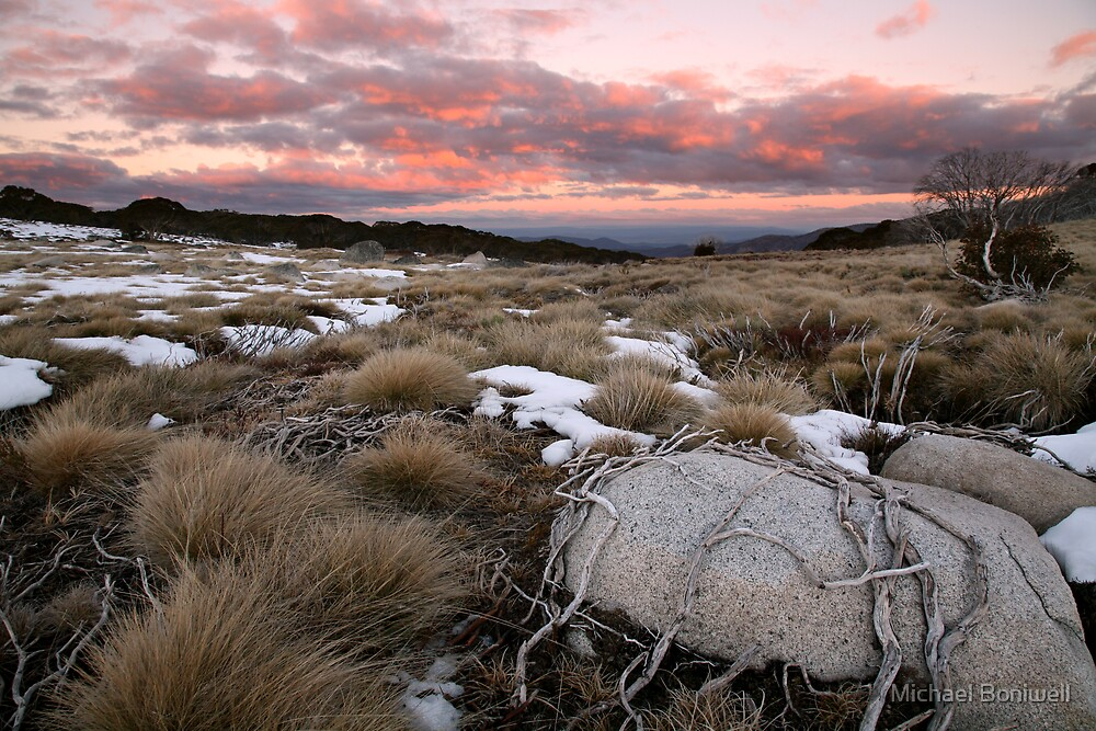 Fall's Creek Winter Sunset, Australia by Michael Boniwell