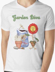 Garden Diva Mens V-Neck T-Shirt