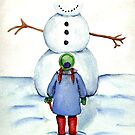 Becca and the Snowman by jenfinger77