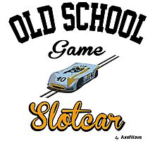 Oldschool game Slotcar Photographic Print