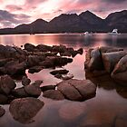 "New day dawns over ""The Hazards"", Coles Bay, Tasmania by Michael Boniwell"