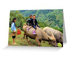 Joyful Children - Sa Pa, Vietnam. Greeting Card
