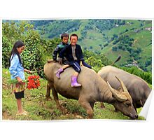 Joyful Children - Sa Pa, Vietnam. Poster