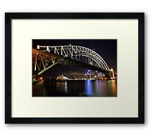 Sydney Harbour Bridge at Night, Australia Framed Print